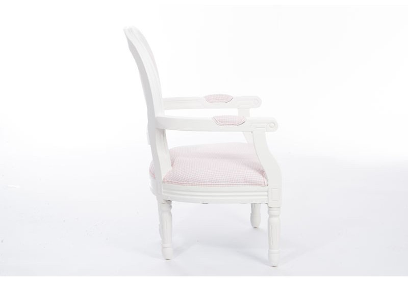 chaise romantique enfant vichy rose et blanc avec. Black Bedroom Furniture Sets. Home Design Ideas