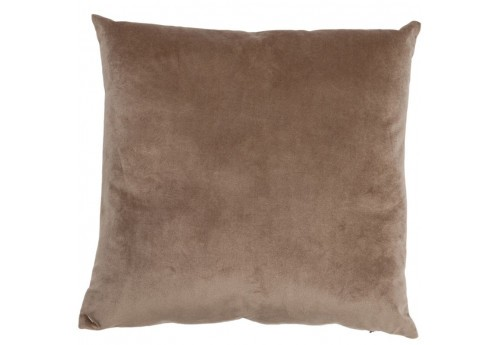 Coussin Velours Taupe 45X45Cm J-Line