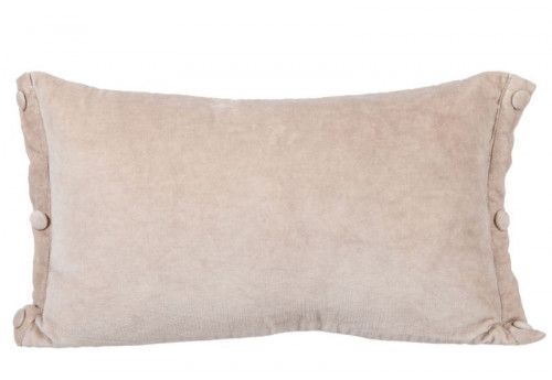 Coussin Rectangle Velours Beige 30X50Cm J-Line
