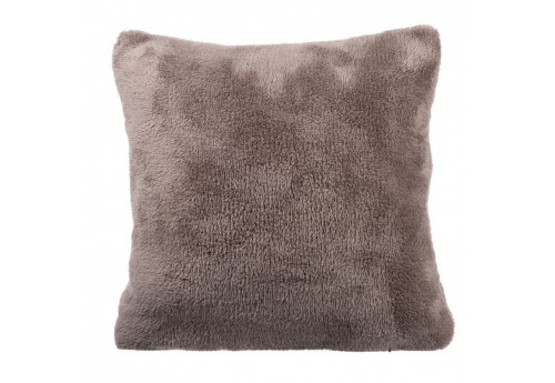 Coussin Polyester Taupe 40X40X10Cm J-Line
