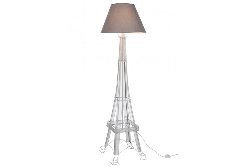 lampe de lecture tour eiffel en fer gris 40x40x166cm j. Black Bedroom Furniture Sets. Home Design Ideas