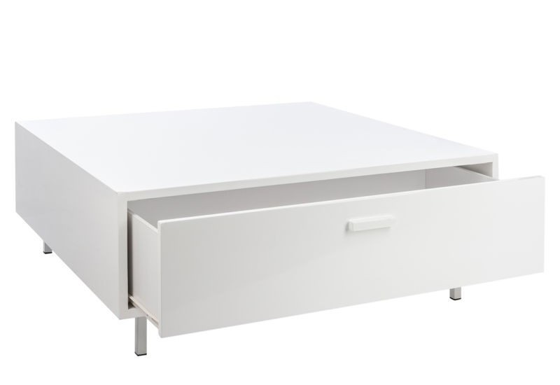 Table de salon moderne blanc pr l vement d for Table de salon moderne blanc