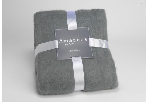 Plaid douceur gris Amadeus