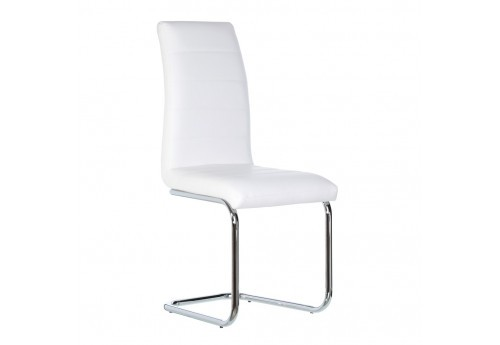 Chaise Moderne En Similicuir Blanc By Auxportesdeladeco