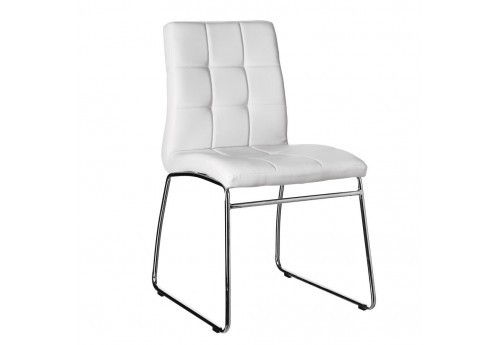 Chaise Moderne Similicuir Blanc By Auxportesdeladeco