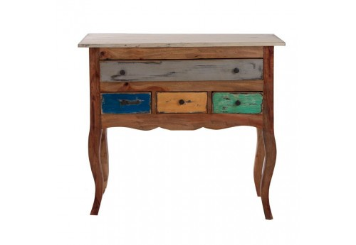 commode bohème chic en bois multicolore 4 tiroirs Vical Home