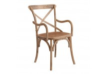 chaise bistrot avec accoudoirs en rotin naturellement chic Vical Home