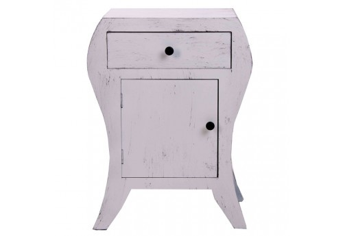 table de chevet en bois originale patine vieilli gris  Vical Home