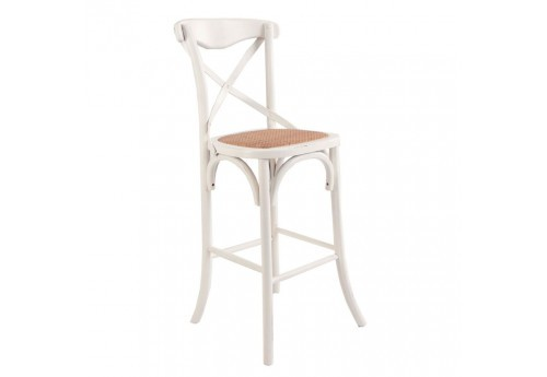 chaise de bar bistrot blanche Vical Home
