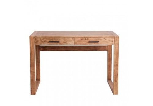 bureau intemporel chic 2 tiroirs en bois massif naturel Vical Home