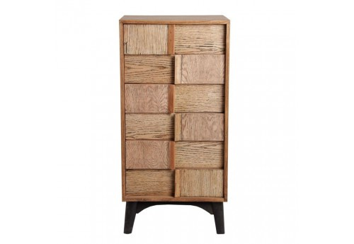 chiffonnier scandinave 6 tiroirs vein en bois naturel et noir vica. Black Bedroom Furniture Sets. Home Design Ideas