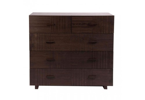 commode scandinave wengé 5 tiroirs Vical Home