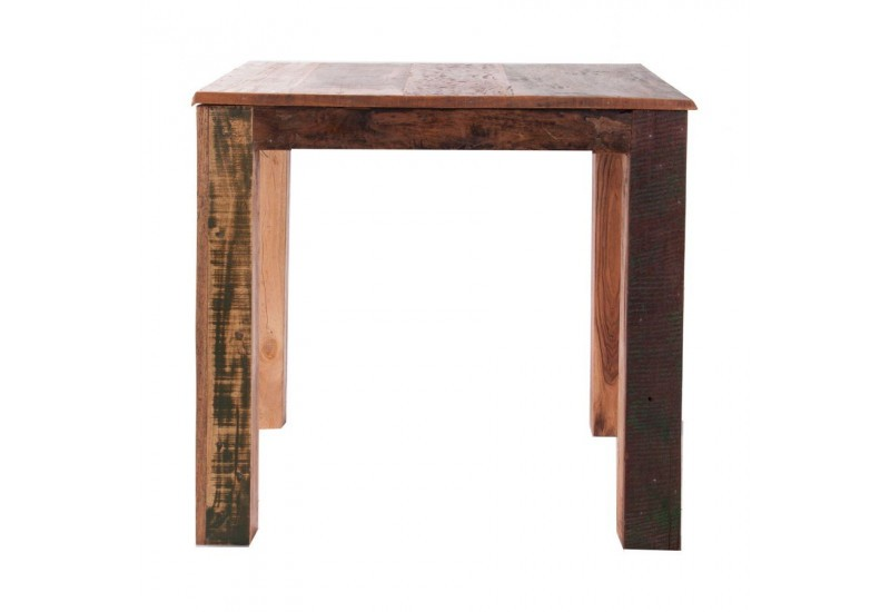 Table d 39 appoint carr en bois exotique vical home vical for Table en bois exotique