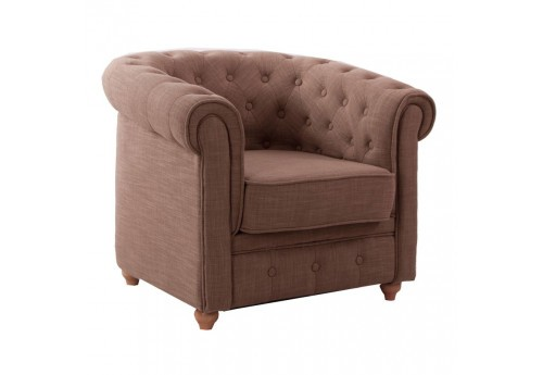 fauteuil chesterfield chic en tissus lin  Vical Home