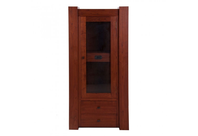 armoire massif 1 porte vitr et 3 tiroirs en bois exotique vical ho. Black Bedroom Furniture Sets. Home Design Ideas