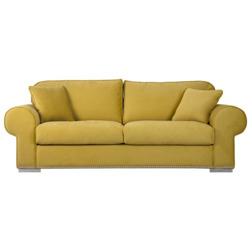 canap chic et original 2 places en tissus moutarde avec. Black Bedroom Furniture Sets. Home Design Ideas