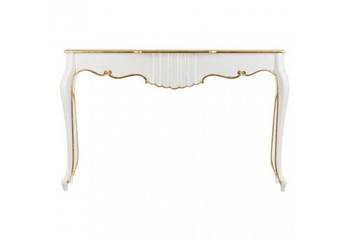console de couloir blanche et or Vical Home