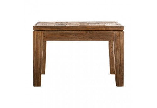 table d'appoint de salon dessus en bois brut  Vical Home