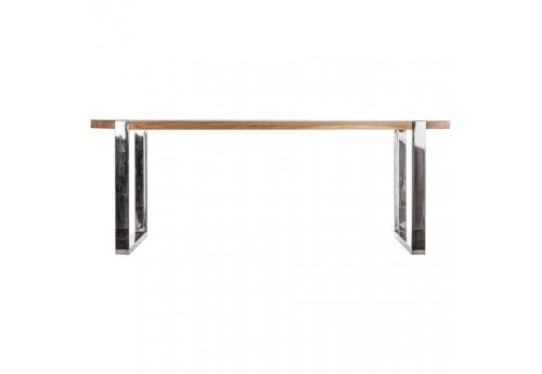 table manger rectangulaire en bois et pieds chrome en m tal vical. Black Bedroom Furniture Sets. Home Design Ideas