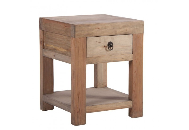 Table de chevet bois brut Table de chevet bois exotique