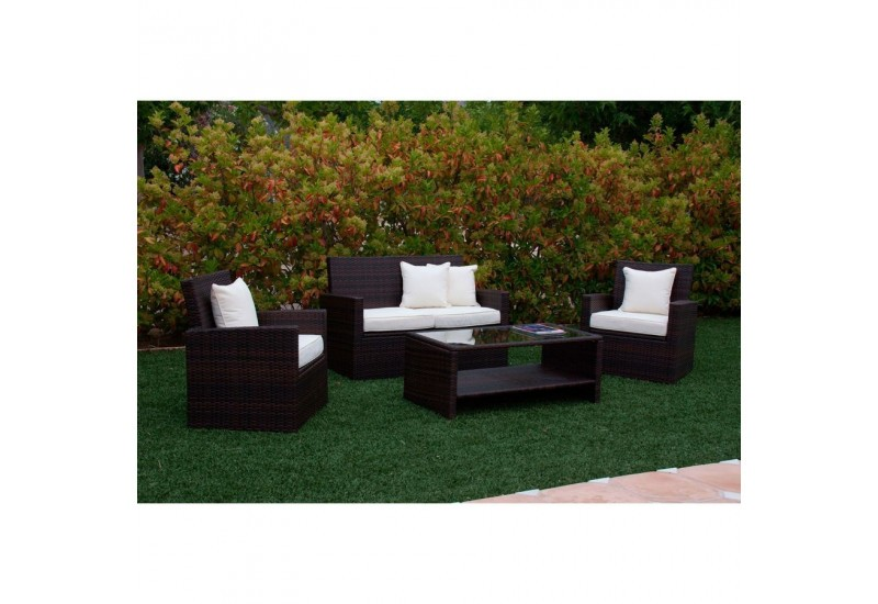 superbe meuble de jardin pas cher suisse 1 salon de jardin 4 pieces en resine tressee marron 2. Black Bedroom Furniture Sets. Home Design Ideas