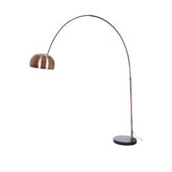 Lampe de lecture en arc en inox cuivr et pied en marbre 220x33x220cm j line - Lampe arco pied marbre ...