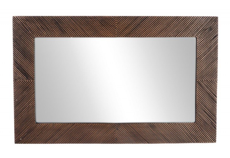 Miroir rectangulaire exotique marron 50x3x80cm j line j for Miroir 50x80