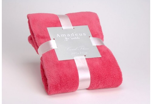 Plaid doudou enfant rose fuchsia Amadeus
