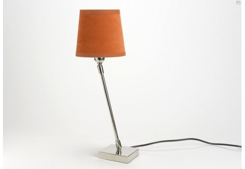 Lampe orientable chic chrome abat-jour orange amadeus