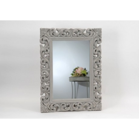 Grand miroir baroque gris amadeus amadeus 19100 for Grand miroir large