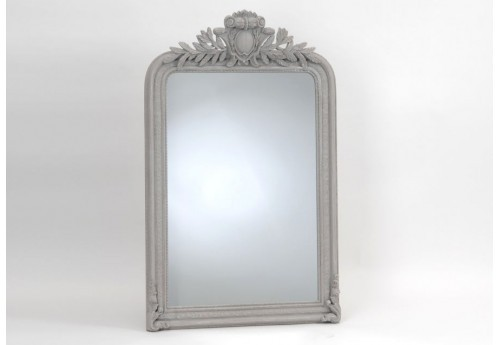 Grand miroir empire gris 125x80 cm amadeus