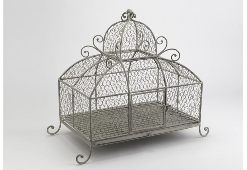 cage d co d me grillag en m tal gris amadeus amadeus 19145. Black Bedroom Furniture Sets. Home Design Ideas