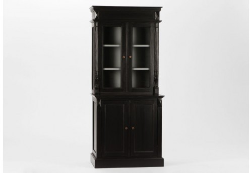 meuble deux corps 4 portes 3 tag res noir bruges amadeus amadeus 1. Black Bedroom Furniture Sets. Home Design Ideas