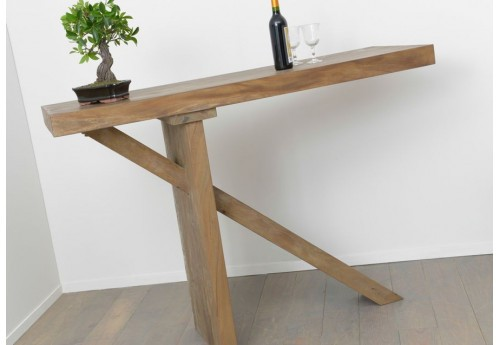 Table bar en bois massif meh nature amadeus