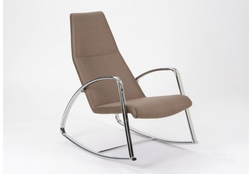 Rocking chair beige rétro Amadeus