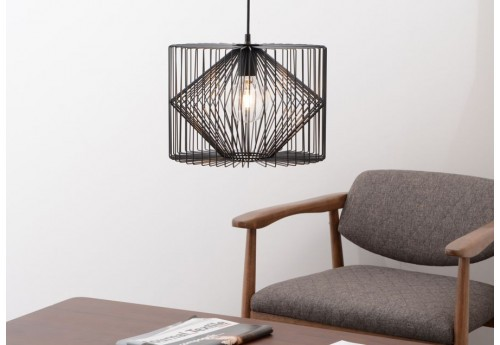 Suspension noir colline 1 lampe amadeus