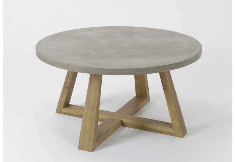 Table basse grise beton - Table basse imitation beton ...