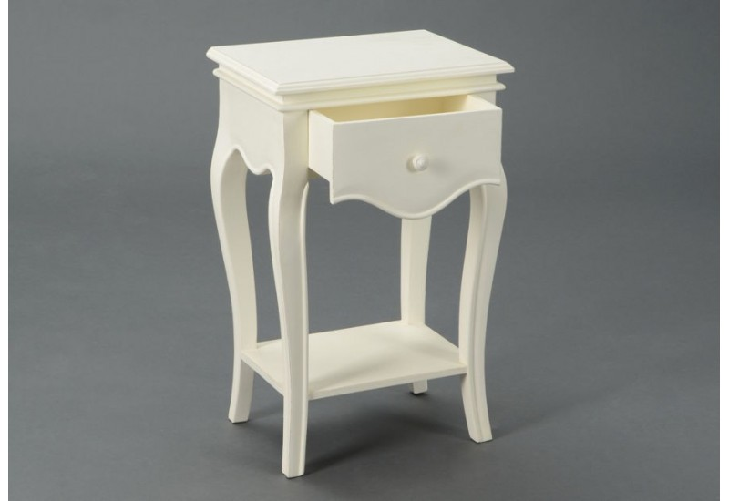 Table de chevet 1 tiroir shabby chic alice amadeus amadeus - Table de chevet avec tiroir ...