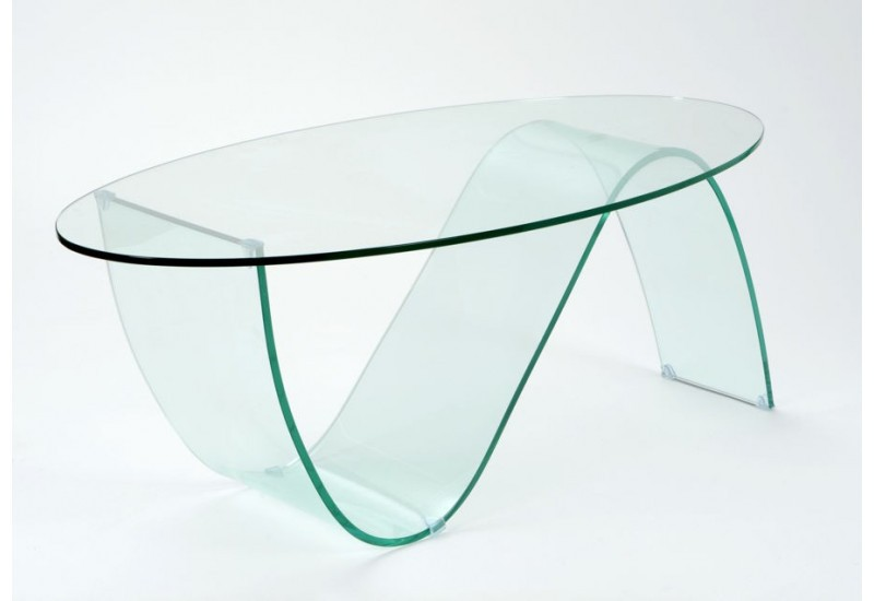 Table basse verre vague moderne amadeus amadeus 19756 - Table moderne en verre ...