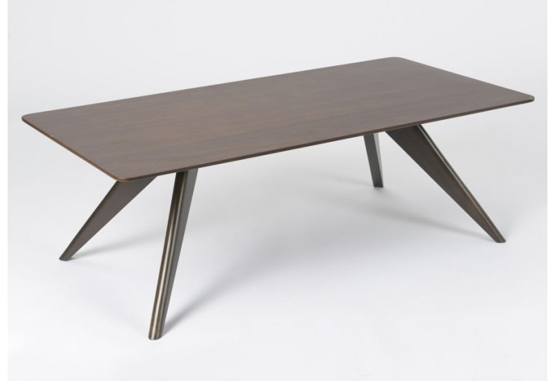 Table basse weng scandinave amadeus amadeus 19862 - Table rectangulaire wenge ...