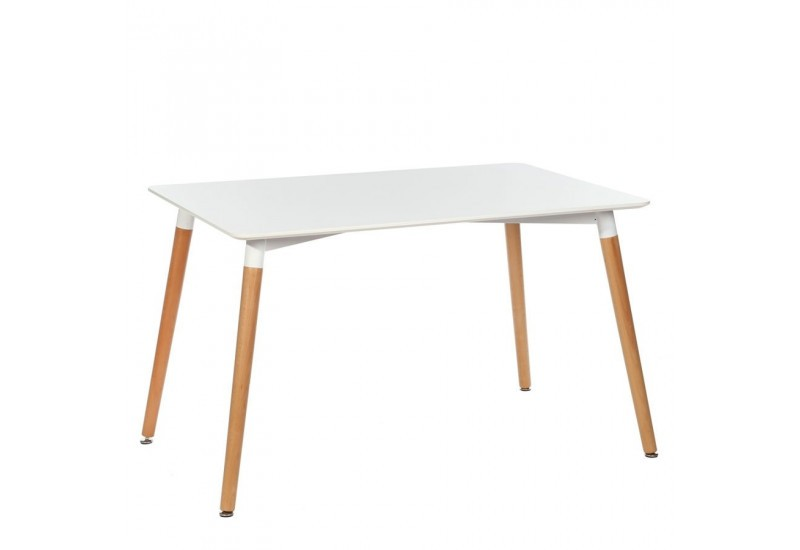Table style nordique maison design for Table rectangulaire scandinave