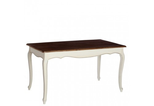 Table a manger rectangulaire romantique blanche Minerva 140 X 80 X 78 CM By Auxportesdeladeco