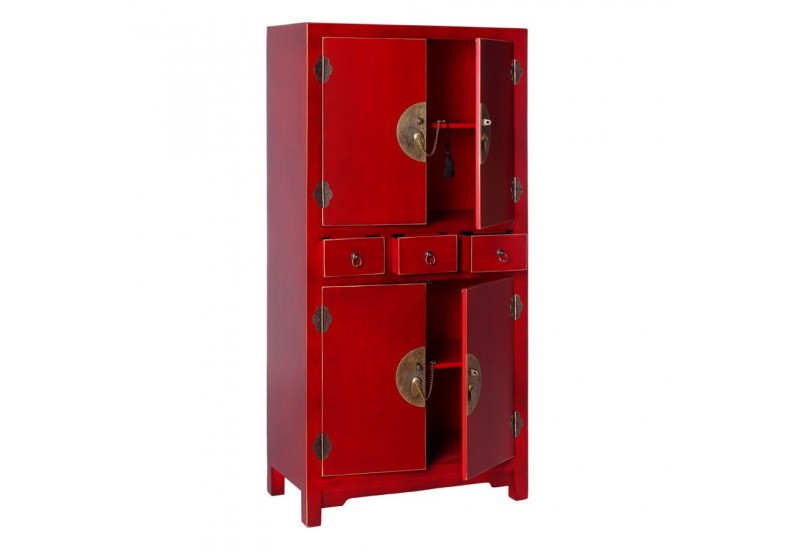 armoire chinoise rouge 63 x 33 x 131 cm by auxportesdeladeco aixi 2. Black Bedroom Furniture Sets. Home Design Ideas