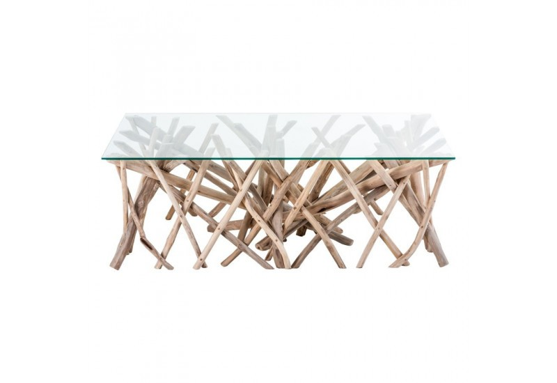 Pin table basse bois flotte en promotion table basse bois for Table basse bois flotte