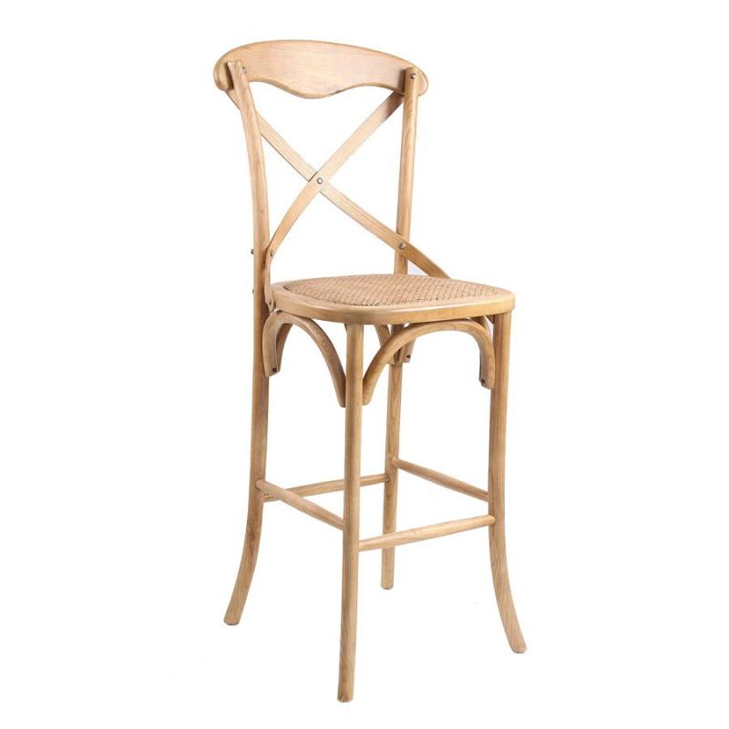 Chaise de bar bistrot en bois naturel vical home vical - Chaises de bar en bois ...