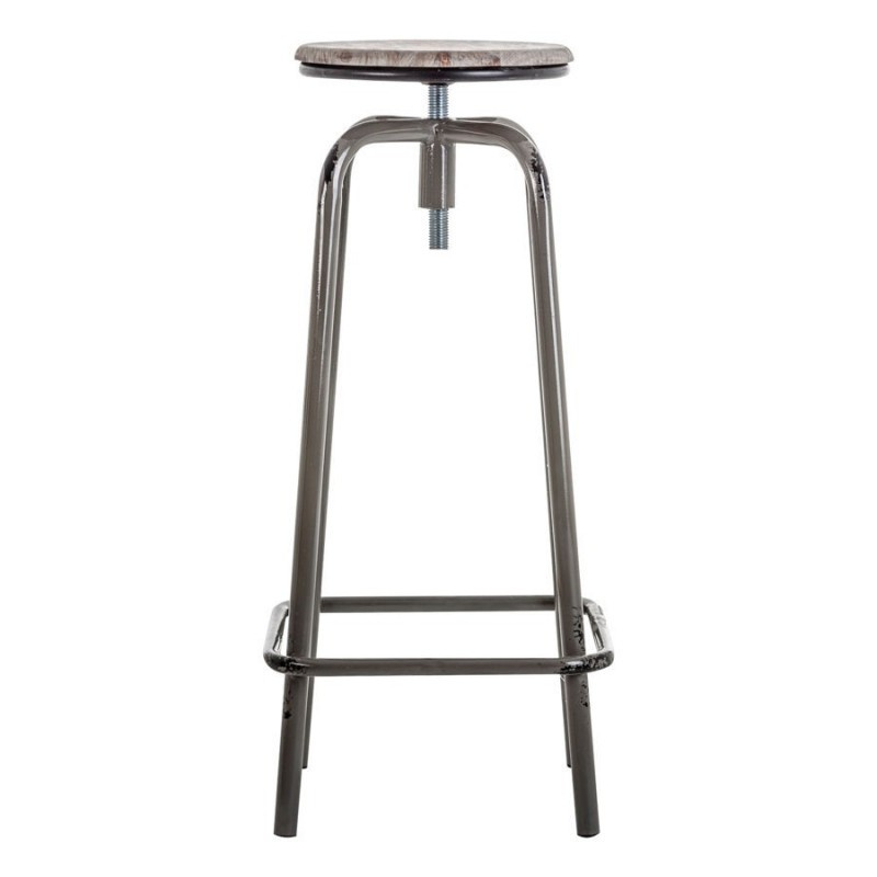 tabouret de bar industriel en m tal noir et assise en bois gris vieilli vical ho ebay. Black Bedroom Furniture Sets. Home Design Ideas