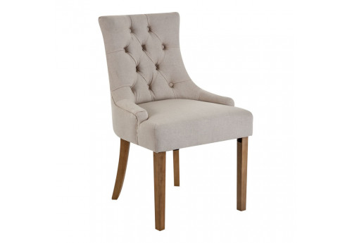 Chaise chic en tissu beige Vical Home