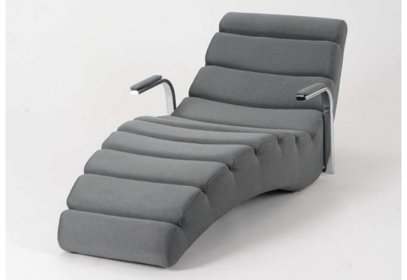 chaise longue en mousse gris fonc chrys amadeus 21011. Black Bedroom Furniture Sets. Home Design Ideas