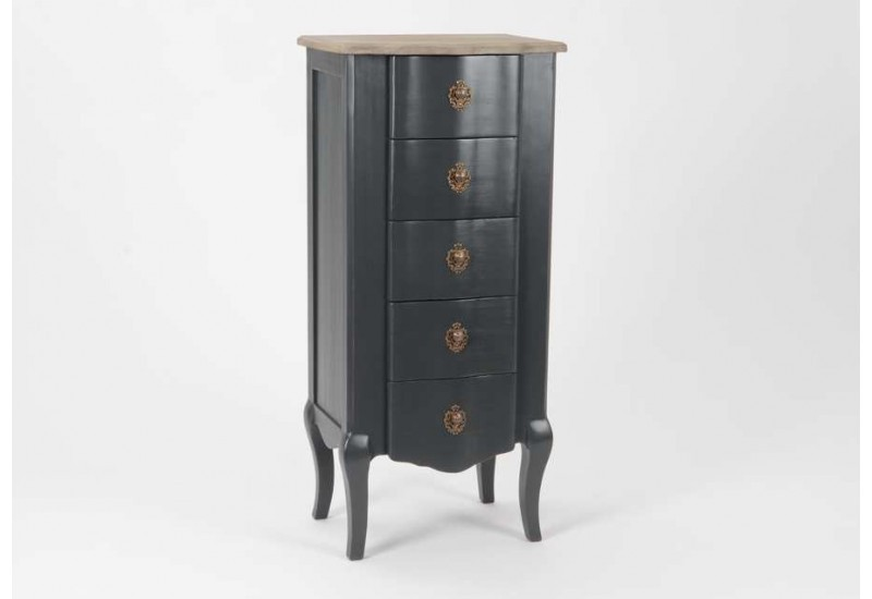 chiffonnier 5 tiroirs baroque chic fonc c lestine amadeus 21044. Black Bedroom Furniture Sets. Home Design Ideas