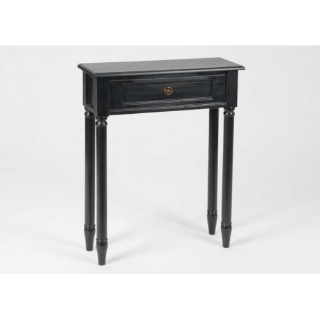 console 60 cm en bois c rus noir brice amadeus 21089. Black Bedroom Furniture Sets. Home Design Ideas